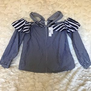 NWT J. Crew Blouse Top Striped